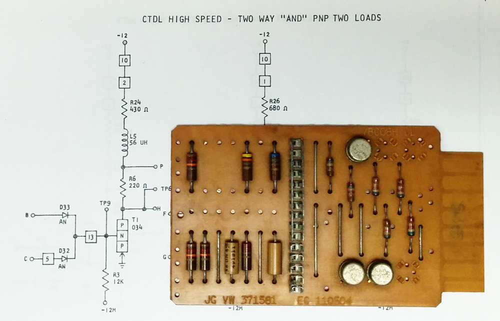 This is a typical SMS card, implementing a triple AND gate.