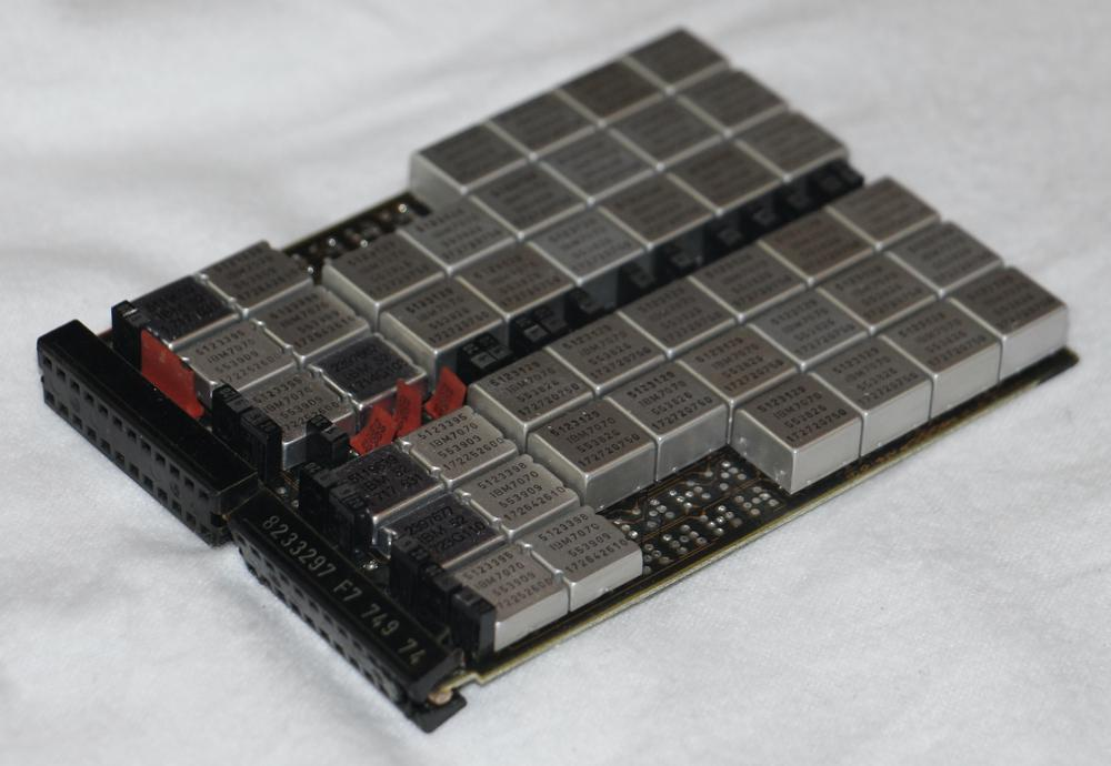 An IBM memory card packed with MST modules.