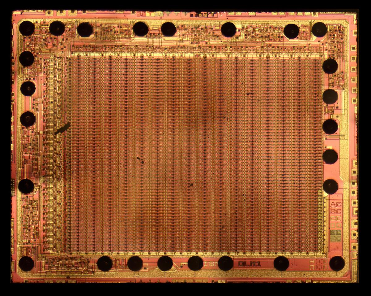 Die photo of the memory chip.