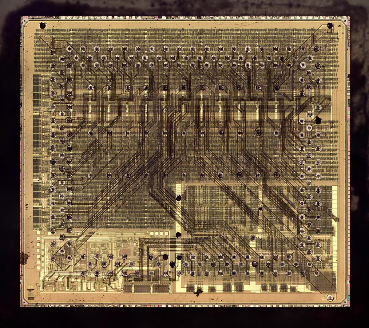 Die photo of the chip. Click this (or any other) image for a larger version.