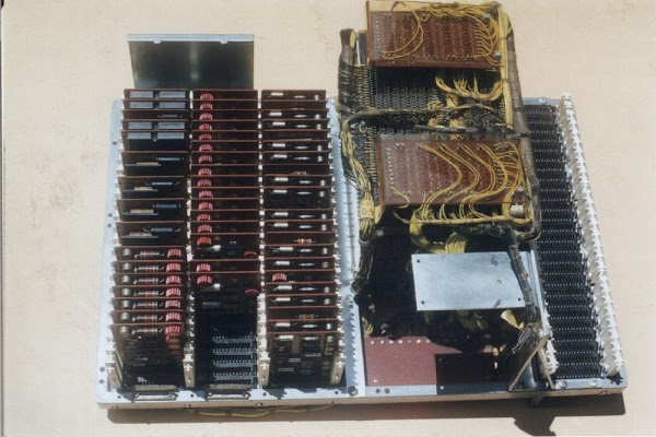 Core memory module and associated circuit board from an IBM 1401 mainframe. Photo courtesy of Rob Storey.