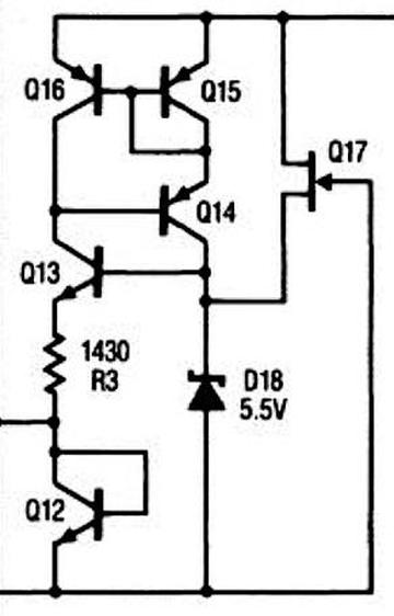 The bias generation circuit, from the datasheet.