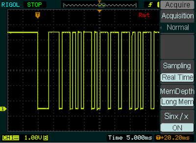 The Long Memory depth option of the Rigol DS1052E oscilloscope.