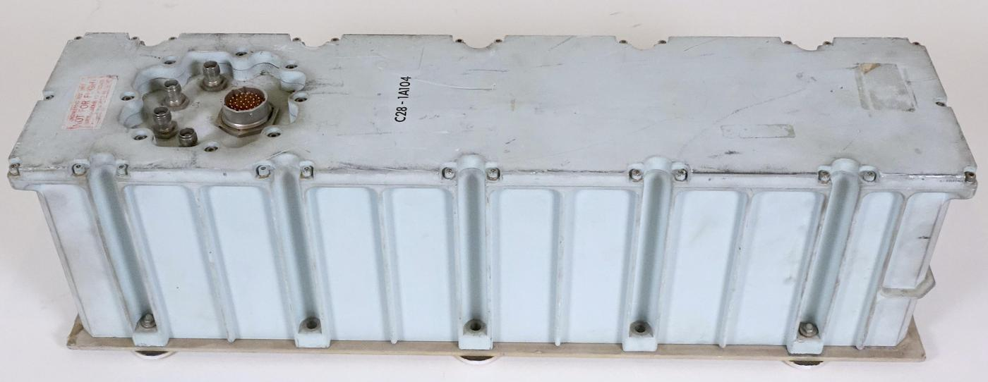 """The Collins Radio traveling-wave tube amplifier. The label says """"Not for flight"""" so this amplifier was only used on the ground. Click this photo (or any other) for a larger version."""