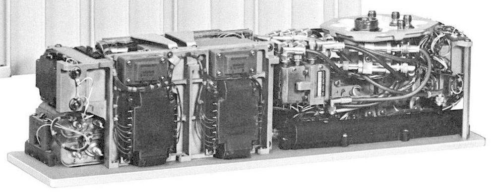 Photo of the traveling-wave tube amplifier used in Apollo. Photo from Collins S-Band Power Amplifier.
