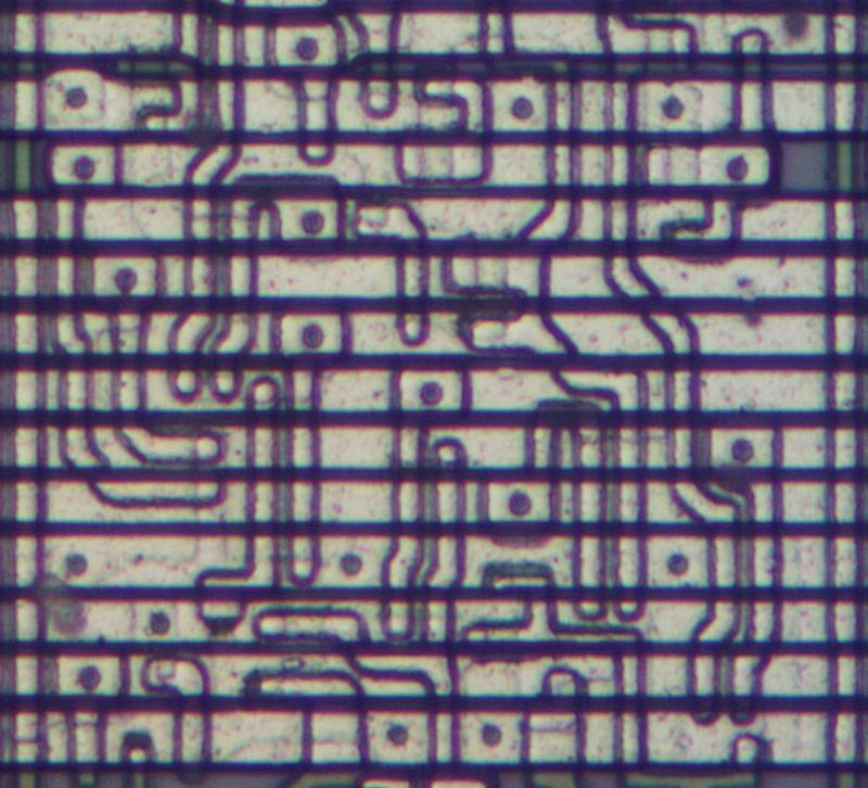 A closeup of the Intel 8086 die.