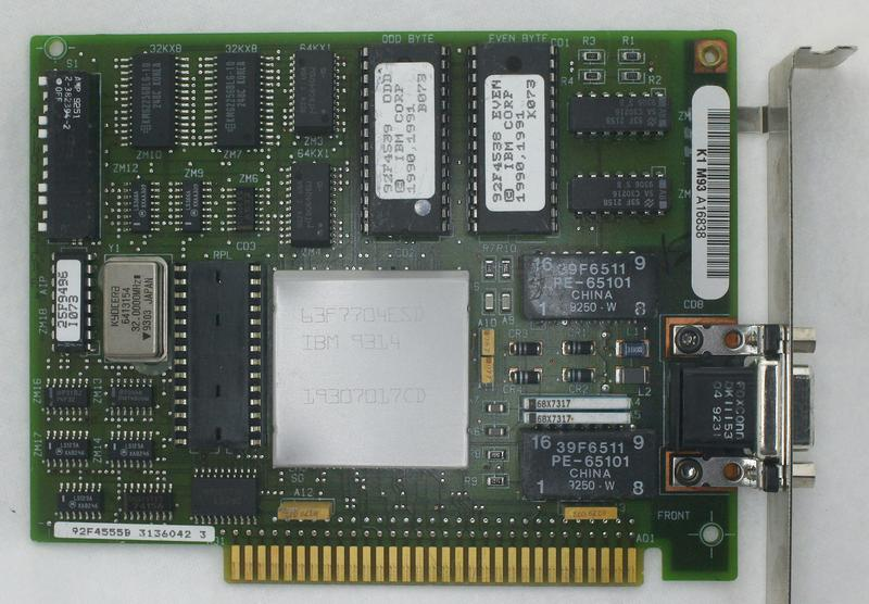 The IBM 4/16 ISA token ring board. The metal-can IC has part number 63F7704.