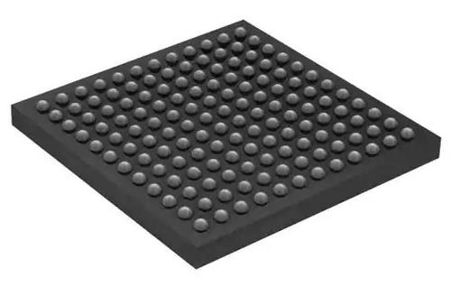 The chip has a 12×12 grid of solder balls on the bottom. (Photo from Digi-Key.)