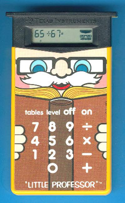 The Texas Instruments Little Professor. Photo courtesy of Datamath Calculator Museum.