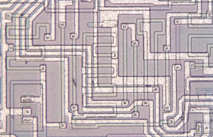 Resistors on the die.