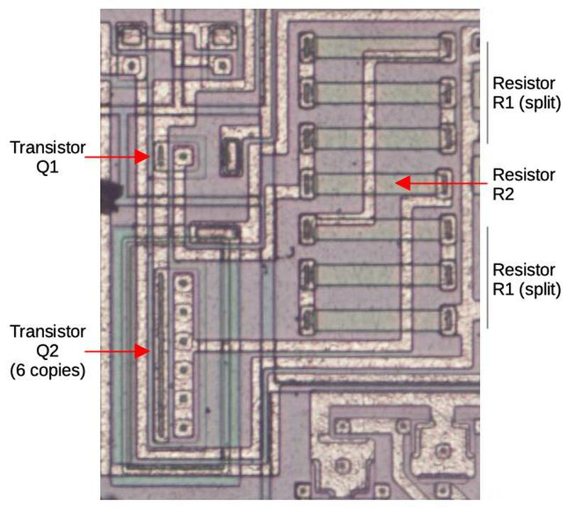 The bandgap circuit for the under-voltage lockout.