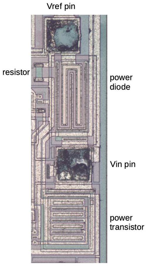 Vref output circuit on the die.